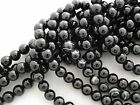 BLACK SARDONYX ROUND GEMSTONE BEADS SELECT SIZE/QUANTIT