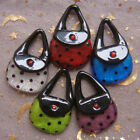 Adorable Lampwork Glass Purse Pendant Necklaces
