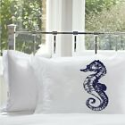 Sea Horse White Nautical Pillocase cover pillow