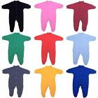 BabyPrem Baby Boys Girls Clothes Plain Coloured Sleepsuit Babygrow NB - 9 months
