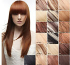 "15"" Remy Human Hair 15Clips Straight Extensions 7Pcs,Any Fashion Color,75g"