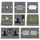 G&H Brushed Steel (aka matt chrome) Light Switches, Plug Sockets & Dimmer Switch