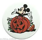 Halloween -Mickey Mouse Sitting in Pumpkin - Button or Magnet -YOUR Choice!