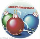 "Christmas ""Merry Christmas"" w/3 Ornimates - Button or Magnet - YOUR Choice!"