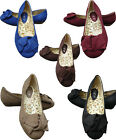 LADIES RED/BLUE/BLACK/BROWN/ BEIGE FLAT SUEDE DOLLY SHOES BALLET WOMENS SIZE 3-8