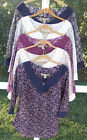 NINE WEST VINTAGE AMERICAN CASUAL COTTON MULTI 3/4 SLEEVE TOP BLOUSE S M L  NEW