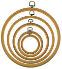"Woodgrain Flexi Hoop for cross stitch/embroidery available in 3"" 4"" 6"" 8"" 10"""