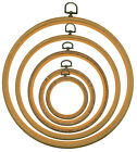 """Woodgrain Flexi Hoop for cross stitch/embroidery available in 3"""" 4"""" 6"""" 8"""" 10"""""""