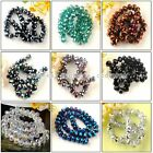 8x12mm Faceted Rondelle Crystal Glass Loose Beads Strand 9/Colors For Jewelry