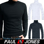 Super Comfy Men's Soft Warm Long Sleeve T-Shirt Turtleneck Tops SZ:XS~L+3Colors