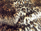 Animal Fun Faux Fur Fabric Material - BABY LEOPARD