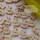 Snail 12mm Wood Buttons Sewing Scrapbooking Craft NCB006