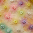 Mixed Organza Flower With Rose 30mm Sewing Scrapbooking Appliques JMOR