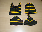 Brand New Cornish Baby Hat Black & Gold