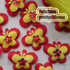 Red Butterfly Overlay Appliques Padded Craft Sewing Scrapbooking Trim APQJ