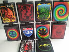 5oz PLASTIC FLASK w/ funnel CHOICE OF DESIGN  Tie dye peace dragon skull leaf