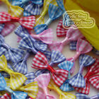 Mixed Ginghan Bows 35mm Appliques Scrapbooking Cardmaking Trimming Craft BC