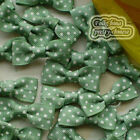 SeaGreen Grosgrain Bows Dot 30mm Appliques Scrapbooking Cardmaking Trimming BJ