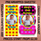 Personalised STARS Mini Love Heart Sweets 4 Childrens Kids Birthdays Any Colours