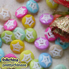 Assorted Star Face Round 13mm Plastic Buttons Sewing Scrapbooking Cardmaking RSB