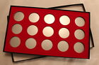 BOX FOR COINS IN AIRTITE CAPSULE HOLDERS, 15 H RED FELT, AIR-TITE