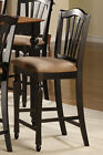 SET OF 10 CHELSEA WOOD COUNTER HEGHT STOOL DINING KITCHEN CHAIR IN BLACK & BROWN