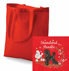 Standard Poodle Tote Bag Embroidered by Dogmania