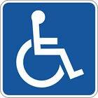 DISABLED/DISABILITY STICKER x 6 suitable for indoors & outdoors - Various Sizes