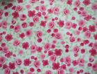 Cotton WIPE CLEAN Tablecloth Oilcloth PVC Ditsy Rose Pink All Sizes Available
