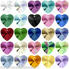 4 Swarovski Crystal 6228 Xilion Heart 10mm Pendants All Colours
