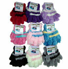 Childs Feather Feel Gloves Cosy Thermal Assorted Striped Designs Polyester NWT