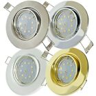 1->10er Sets: SMD Deckenstrahler Tomas 230Volt. 3W Downlights Power LED Strahler