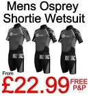 "Mens Osprey Shortie Wetsuits Sizes XS-3XL 35-44"" Chest"