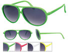 Full Colour Frame Aviator Sunglasses Dark Tint Lens Retro 80s UV400 Pipel BNWT