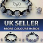 SHAMBALLA CRYSTAL DISCO BALL FRIENDSHIP BEAD BRACELETS AND EARRING SET UK SELLER