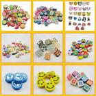 Nail Art DIY mixed fimo Polymer Clay Spacer Beads Hole 6mm 10mm New