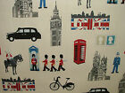 Prestigious Capital Cream London Themed Cotton Curtain Upholstery Blind Fabric