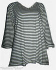Plus Size Nautical Top 3/4 Sleeve  Stripy Beige Puple Grey 18 20 24 34 NWT