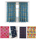 """66"""" x 54"""" Pair of Kids Novelty Curtains - Many Designs Available"""