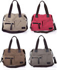 Womens Ladies girl Fashion Large Canvas Leather Shoulder Handbag Tote Purse Bag