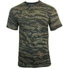 BLACK TIGER STRIPE ARMY CAMO/CAMOUFLAGE T-SHIRT - All Sizes Military Top