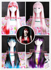 Long Japan anime Straight Blend multi-color Cosplay Girl Hair Wig 4 selections