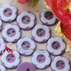 Plum 2 Holes 12mm Flower Plastic Buttons Sewing Craft Scrapbooking PCB-A04