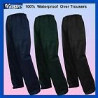 Mens Black Navy Green Waterproof Fishing Hunting Over Trousers Bottoms S to XXL