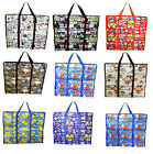 Jumbo & XL Jumbo Plastic Re-use Reusable Laundry Toy Shopping Storage Bag Travel