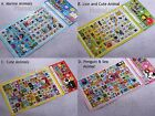 Cute Animal Colorful Gel sticker over 70pcs (1pc) Kids Arts Crafts scrapbook