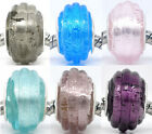 20 Foil Glass Lampwork Beads Fit Charm Bracelet 14x10mm M0235