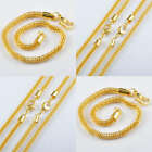 12pcs/24pcs Gold Plated Fashion Bracelet Chains K6083 200x3mm