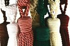 MINI BOAT/CARAVAN CURTAIN TIEBACKS - black, pink, green, peach, teal,gold etc
