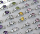 Rhinestone Silver Plated Rings 3 for 2! - Size R (18)